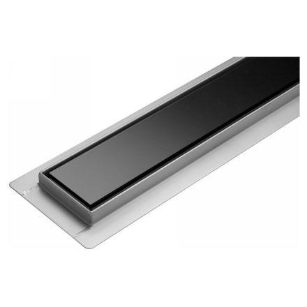 Zuhanylefolyó 80cm Black Glass Inox FALA