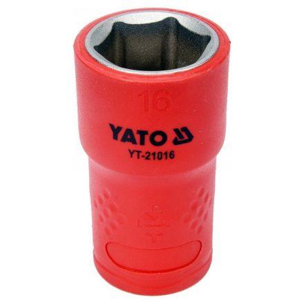 """Dugókulcs 3/8"""" 16 mm 1000 V-ig szigetelt YATO"""