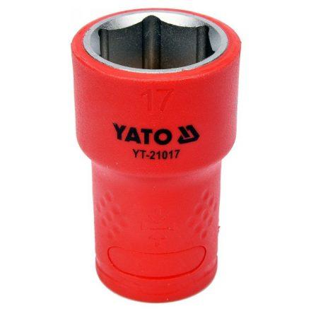 Dugókulcs 17 mm 3/8 col 1000V-ig szigetelt YATO