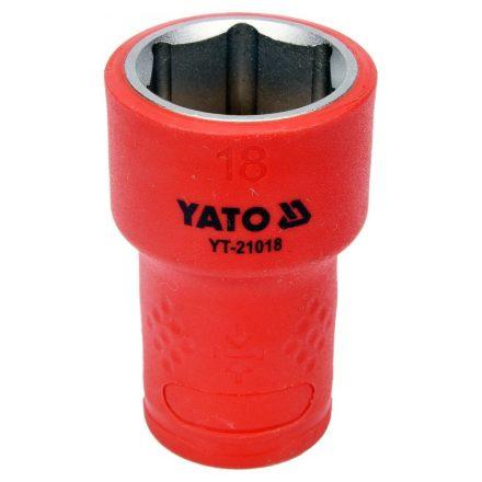 """Dugókulcs 3/8"""" 18 mm 1000 V-ig szigetelt YATO"""