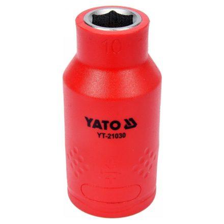 """Dugókulcs 1/2"""" 10 mm 1000 V-ig szigetelt YATO"""