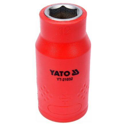 Dugókulcs 12 mm 1/2 col 1000V-ig szigetelt YATO