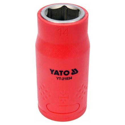 """Dugókulcs 1/2"""" 14 mm 1000 V-ig szigetelt YATO"""