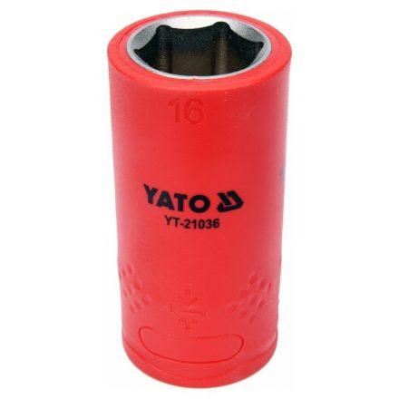 Dugókulcs 16 mm 1/2 col 1000V-ig szigetelt YATO