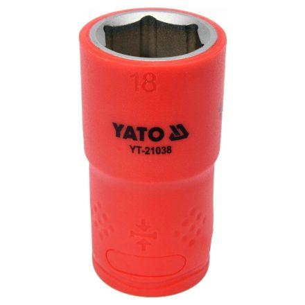 """Dugókulcs 1/2"""" 18 mm 1000 V-ig szigetelt YATO"""