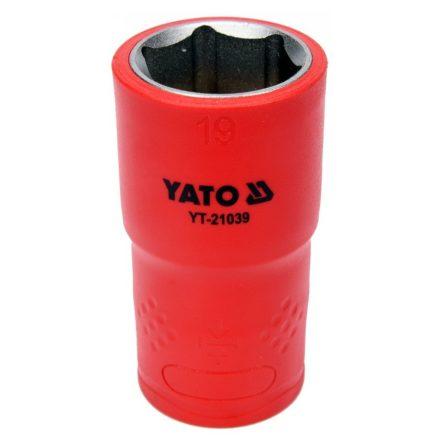 """Dugókulcs 1/2"""" 19 mm 1000 V-ig szigetelt YATO"""