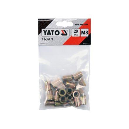 Acél popszegecs M8 20 db YATO