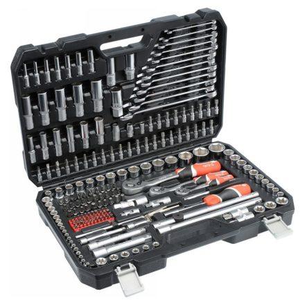 """Dugókulcs készlet 216 részes 1/2"""": 10-32 mm, 1/4"""": 4-14 mm, 3/8"""": 10-19 mm CrV YATO"""