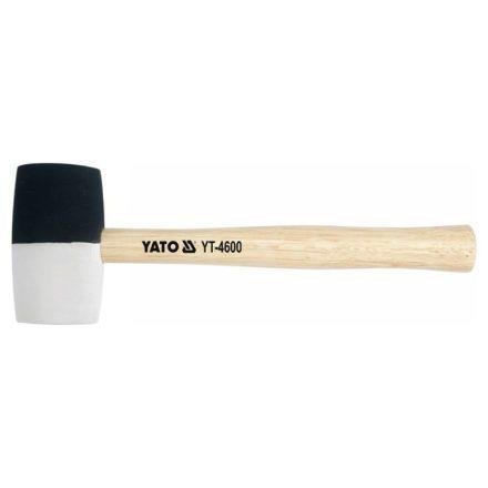 Gumikalapács kétszínű (fekete-fehér) 58mm 580g YATO