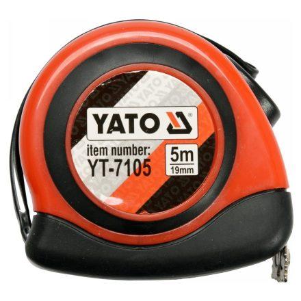 Mérőszalag 5 m x 19 mm, mágneses, nylon bevonatú YATO