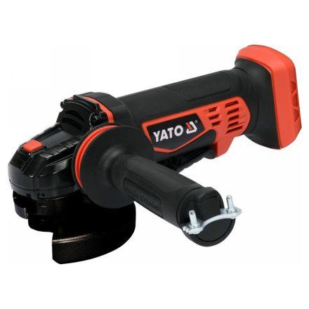 Akkus sarokcsiszoló 18 V 125 mm (akkumulátor és töltő nélkül) YATO